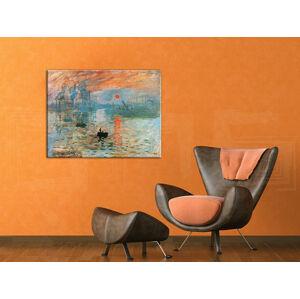Obraz na plátne Zľava 40% ZÁPAD SLNKA V PRÍSTAVE – Claude Monet 60x80 cm REP084 (objednajte do 12:00 s doručením do 24 hodín)