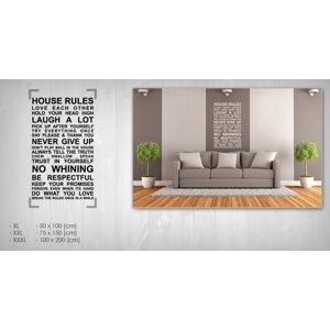 Nálepka na stenu CITÁTY 50x100 cm NACT005 - biela farba (skladom)