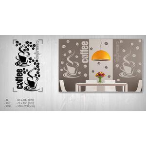 Nálepka na stenu KÁVA 50x100 cm NAKA028 - tmavohnedá farba (skladom)
