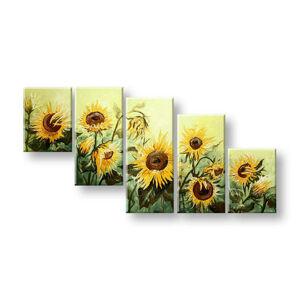 Maľovaný obraz na stenu Zľava 40% KVETY FB453E5 100x50/24h (skladom)