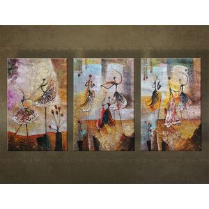 Ručne maľovaný obraz Zľava 40 % na stenu TANEČNICE 120x85 cm FB223E3/24h (skladom)