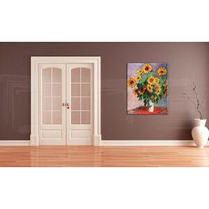 Obraz na plátne Zľava 60% SLNEČNICE – Claude Monet 60x70 cmREP082/24h (skladom)