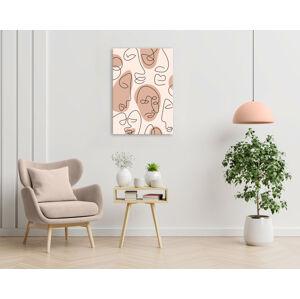 Obraz na plátne Zľava 60% Nude faces 1-dielny 40x60 cm XOBVERART006E1/24h (skladom)