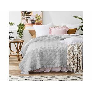 Prehoz na posteľ HAVANA Grey 220x240 cm (prikrývka na posteľ)