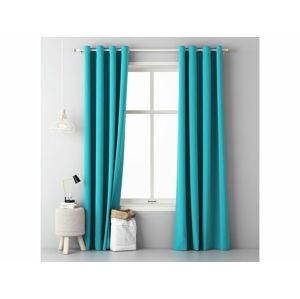 Jednofarebný záves AURA Turquoise 1ks 140x250cm (záves na krúžky)