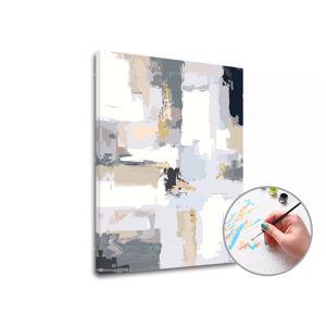 Maľovanie podľa čísel 50 ODTIEŇOV SIVEJ – nízka náročnosť (Sada na maľovanie podľa čísel ARTMIE)