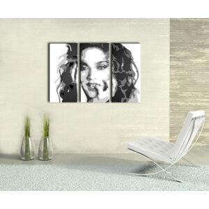 Ručne maľovaný POP Art obraz MADONNA 3 dielny  ma3 (POP ART obrazy)