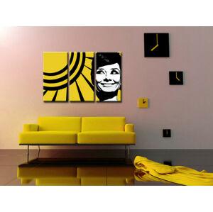 Ručne maľovaný POP Art obraz Audrey HEPBHURN 3 dielny  ah2 (POP ART obrazy)
