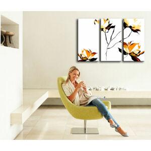 Ručne maľovaný POP Art obraz  FLOWER 3 dielny  flo (POP ART obrazy)