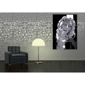 Ručne maľovaný POP Christina Aguilera  ca2 (POP ART obrazy)