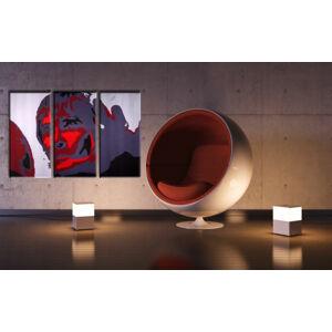 Ručne maľovaný POP Art obraz Ian Brown 3 dielny  ib (POP ART obrazy)