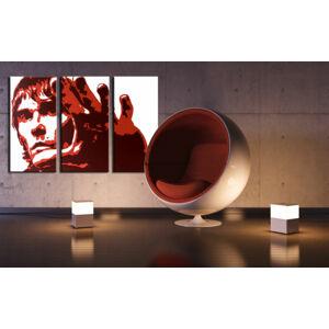Ručne maľovaný POP Art obraz Ian Brown 3 dielny  ib3 (POP ART obrazy)