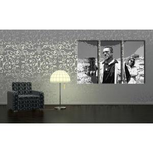 Ručne maľovaný POP Art obraz Big Lebowski 3 dielny  bl1 (POP ART obrazy)