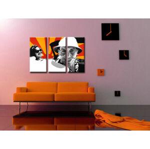 Ručne maľovaný POP Art obraz Fear and Loathing in Las Vegas 3 dielny  lv2 (POP ART obrazy)