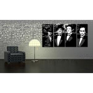 Ručne maľovaný POP Art obraz Corleone Family 4 dielny  cor (POP ART obrazy)