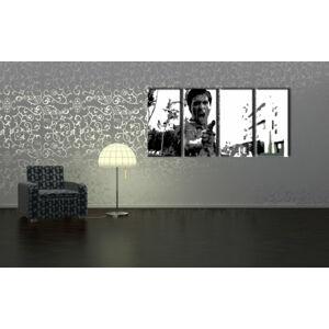 Ručne maľovaný POP Art obraz AL PACINO 4 dielny  al25 (POP ART obrazy)