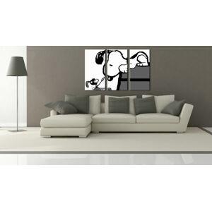 Ručne maľovaný POP Art obraz SNOOPY 3 dielny  snoopy3 (pop art snoopy)