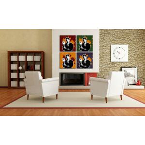 Ručne maľovaný POP Art obraz Scarface - AL PACINO 4 dielny  al36 (POP ART obrazy)