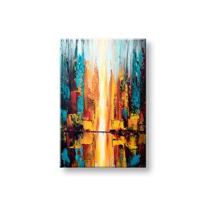 Maľovaný obraz na stenu ABSTRAKT 1 dielny YOBATAB002E1 (maľované obrazy ateliér LIPA)