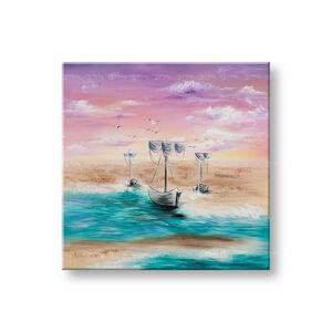 Maľovaný obraz na stenu LODE NA MORI 1 dielny YOBATLN007E1 (maľované obrazy ateliér LIPA)