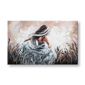 Maľovaný obraz na stenu DIEVČA 1 dielny YOBFB576E1 (maľované obrazy FABIO)