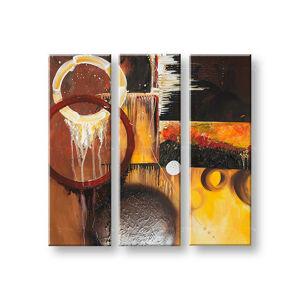 Maľovaný obraz na stenu DeLUXE ABSTRAKT 3 dielny 031D3 (ručne maľované obrazy)