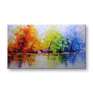Maľovaný obraz na stenu STROMY FB012E1 (maľované obrazy FABIO)
