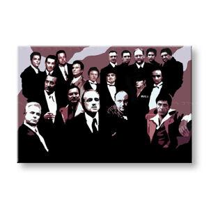 Ručne maľovaný POP Art obraz The MAFIA Family 2 dielny family (POP ART obrazy)