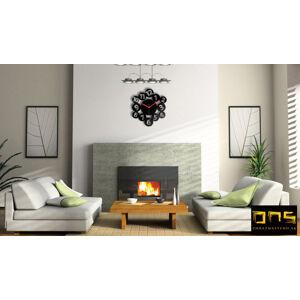 Moderné nástenné hodiny MAGIC NUMBERS NH002 (samolepiace hodiny na stenu)