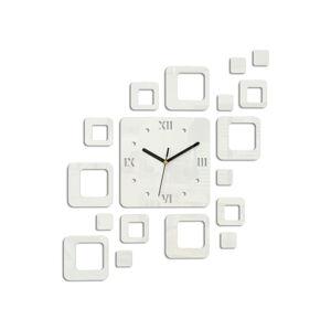 Moderné nástenné hodiny ROMAN WHITE HMCNH010-white (nalepovacie hodiny na stenu)