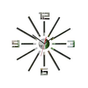 Moderné nástenné hodiny SHEEN WENGE HMCNH038-wenge (nalepovacie hodiny na stenu)