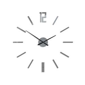 Moderné nástenné hodiny CARLO GRAY HMCNH057-gray (nalepovacie hodiny na stenu)