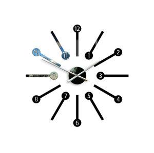 Moderné nástenné hodiny METRO HMCNH063 (nalepovacie hodiny na stenu)