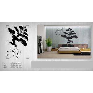 Nálepka na stenu STROM NAS086 120x180 cm – čierna farba (skladom)