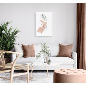 Obraz na plátne Lady 1 dielny XOBVERART001E1 (Moderné dizajny obrazov od VeronikaArt)