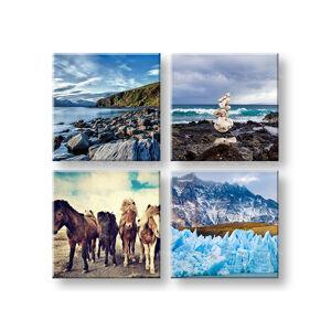 Obraz na stenu Walking through the Iceland 4 dielny XOBKOL12E42 (moderné obrazy na plátne )