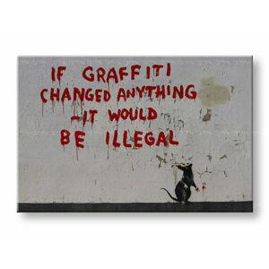 Obraz na plátne Street ART – Banksy (moderné obrazy na stenu)