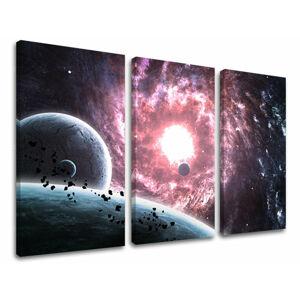 Obraz na stenu 3 dielny VESMÍR GA007E30 (HD obrazy na plátne)