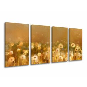 Obraz na stenu 4 dielny KVETY KV075E41 (moderné obrazy na plátne)