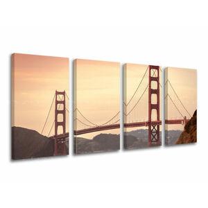 Obraz na stenu 4 dielny MESTO / SAN FRANCISCO ME116E41 (moderné obrazy na plátne)
