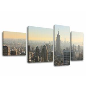Obraz na stenu 4 dielny MESTO / NEW YORK ME117E40 (moderné obrazy na plátne)