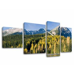 Obraz na plátne 4 dielny SLOVENSKO SK004E40 (moderný 4 dielny obraz na plátne)