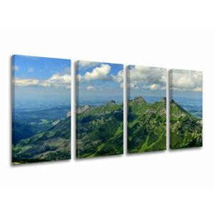 Obraz na stenu 4 dielny SLOVENSKO / TATRY SK033E41 (moderné obrazy na plátne)