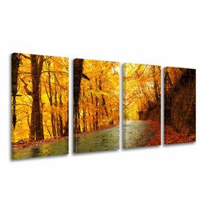 Obraz na stenu 4 dielny STROMY ST004E41 (moderné obrazy na plátne)