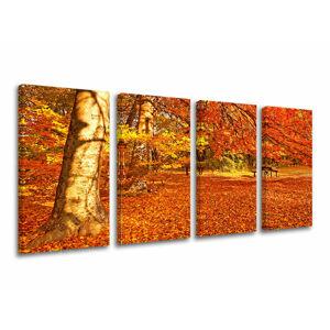 Obraz na stenu 4 dielny STROMY ST005E41 (moderné obrazy na plátne)