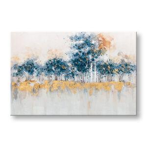 Maľovaný obraz na stenu ABSTRAKT 1 dielny CWF1057WE1 - 90x60 cm (maľované obrazy)